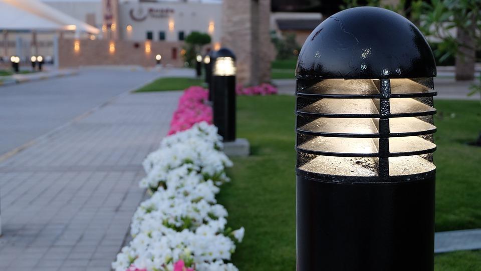 Colocación de luces LED en el exterior